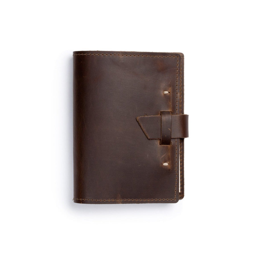 Refillable Leather Journal - Saddle