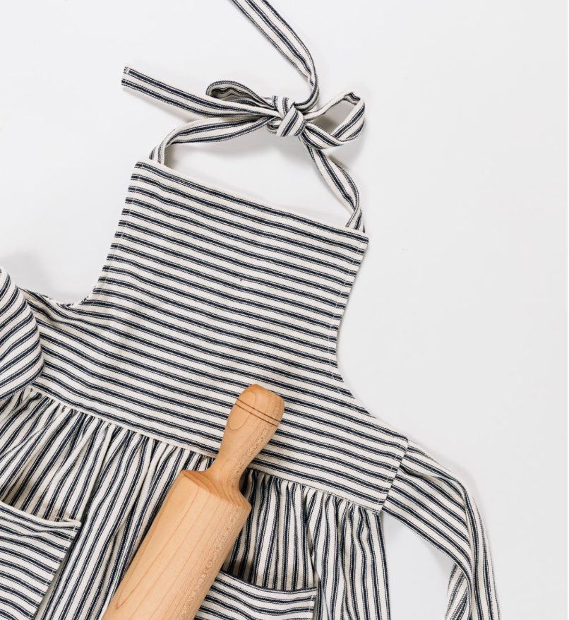 French Ticking Child's Apron