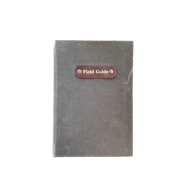 Hand Bound Waxed Canvas Field Guide Journal