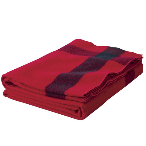 Woolrich Artillery Blanket Red and Navy