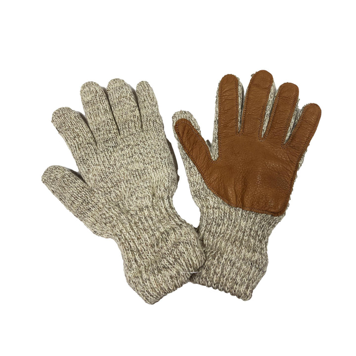 Ladies Oatmeal Gloves with Deerskin Palm