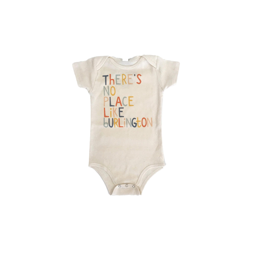 There's No Place Like Burlington Organic Cotton Baby Bodysuit