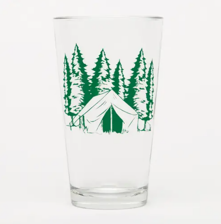 Camping Pint Glass