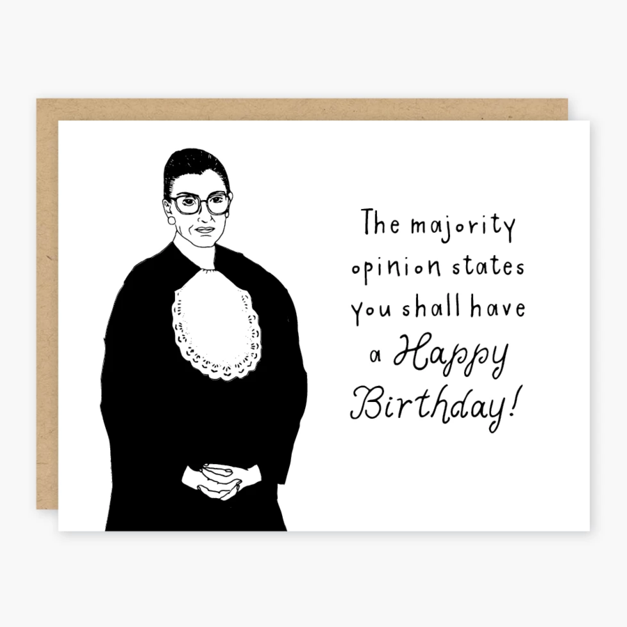 Ruth Bader Opinion Birthday Card - PO6