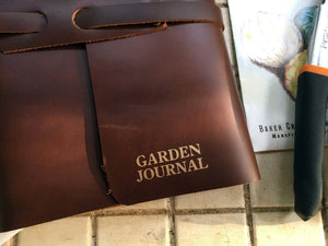 Leather Handmade Garden Journal