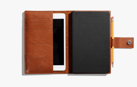 Leather Medium Journal/iPad Mini Cover with Tab