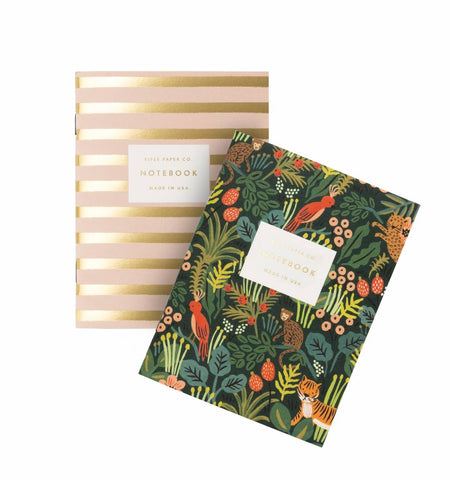 Rifle Paper Set of 2 Unruled Pocket Notebooks