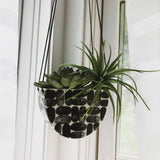 Half Moon Hanging Planter Brick
