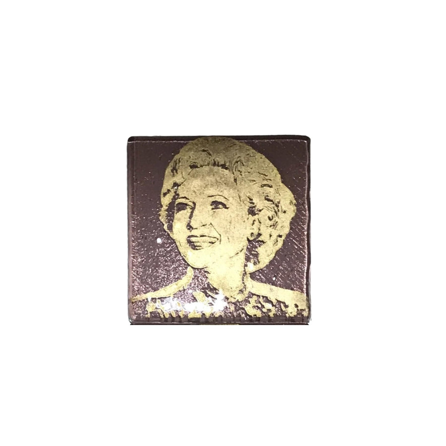 Golden Girls Glass Coaster - Rose
