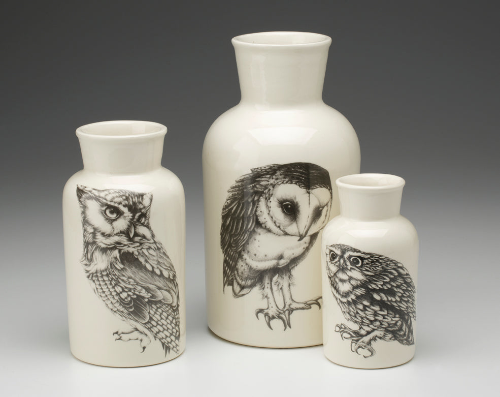 Laura Zindel Ceramic Owl Jar