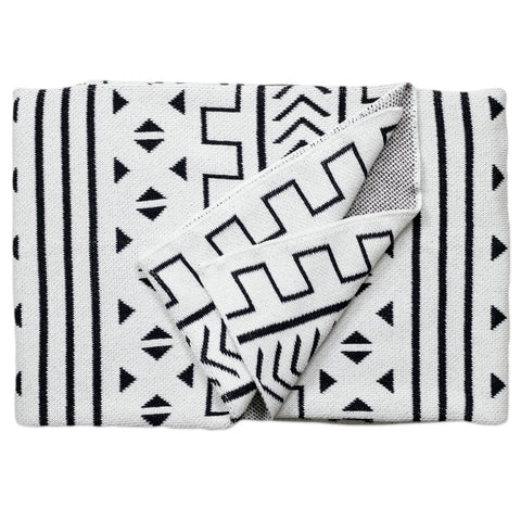Mali Throw Blanket White