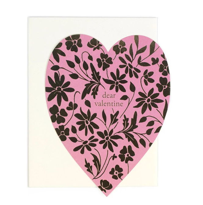 Dear Valentine Pink Heart card - AH7