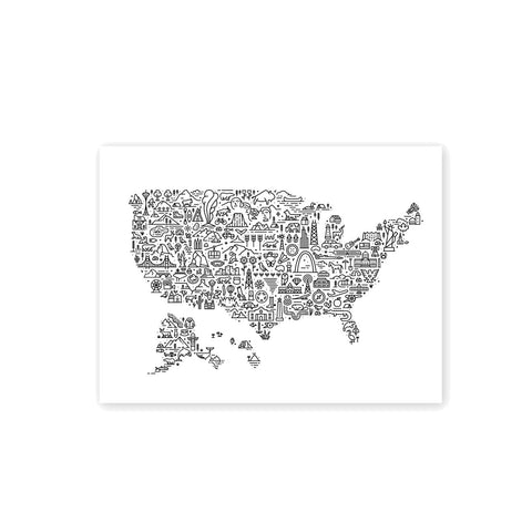 Icon Map of America