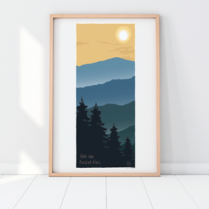 Hike the Ancient Ones Print - 13x19