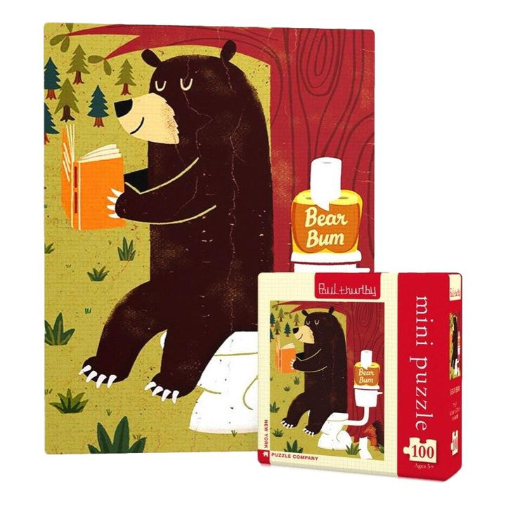 Bear Bum Mini 100 Piece Puzzle