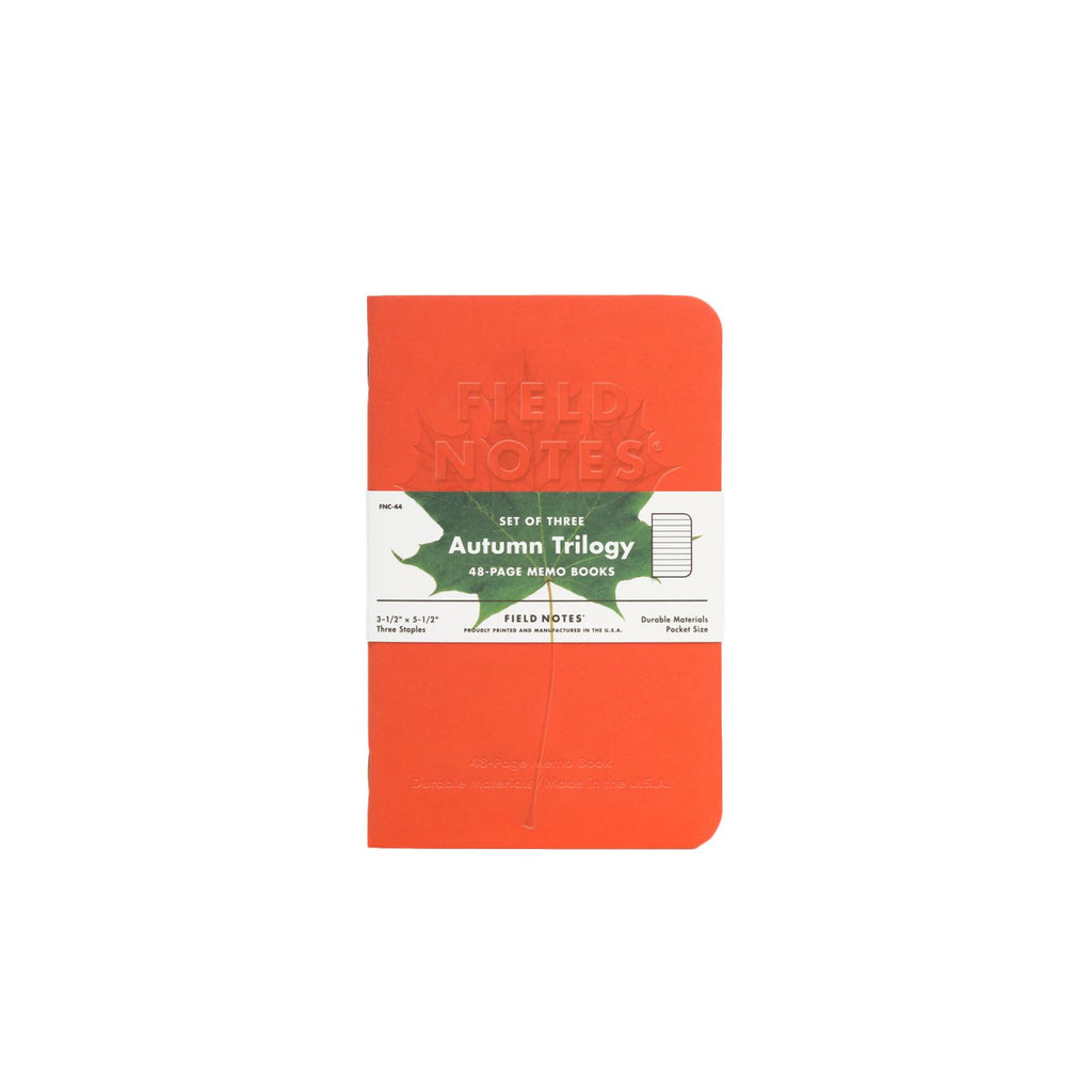 Field Notes Autum Trilogy Memo Books - Set of 3