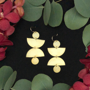 Brass Hills Earrings