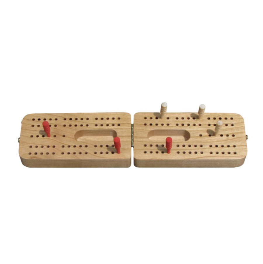 Cherry Folding Cribbage Board