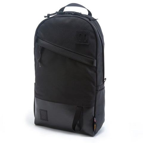 Topo Designs Daypack Ballistic Black/Black Leather