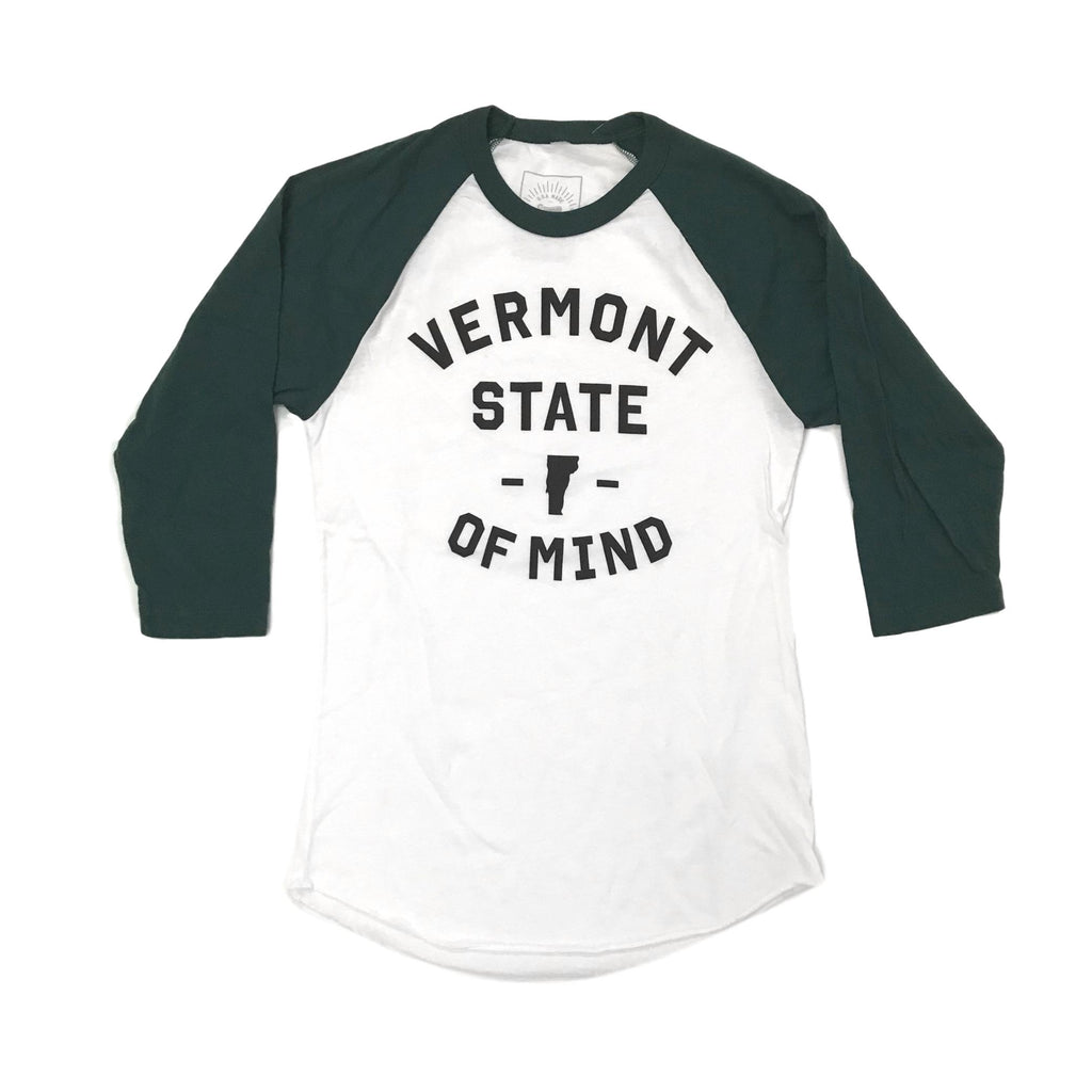 Vermont State of Mind Women's Forest Green Raglan