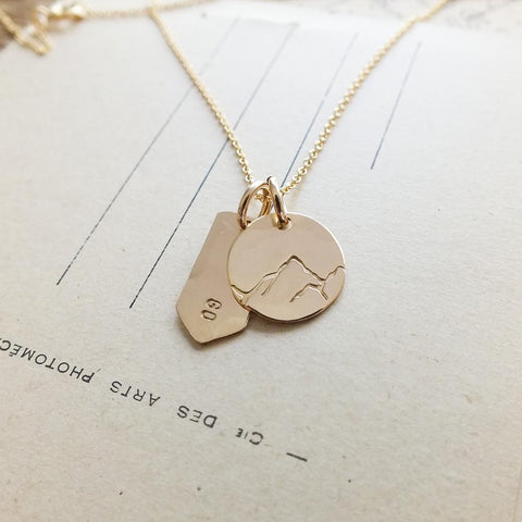 I Must Go Mountain Necklace