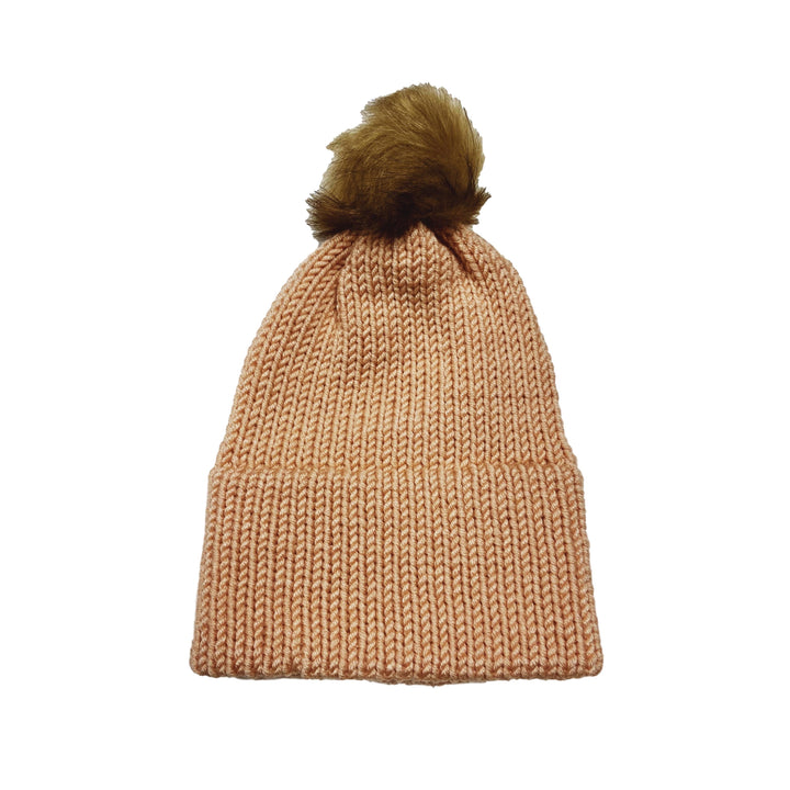 Made in Vermont Fuzzy Pom Hat - Rose