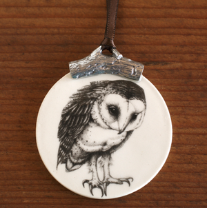 Laura Zindel Ceramic & Pewter Ornament