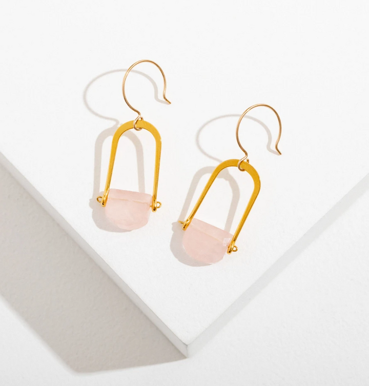 Teara Rose Quarz Earrings