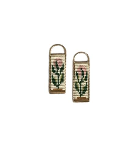 Beaded Floral Tapestry Earring