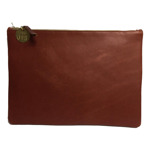 "13"" Bourbon Brown Leather Laptop Sleeve"
