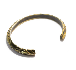 Triangle Line Cuff - Antique Brass