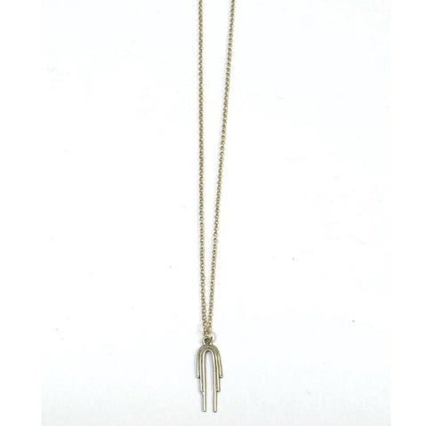 Drop Arch Necklace - Brass
