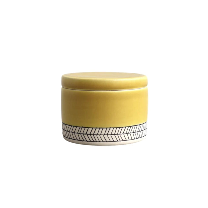 Herringbone Salt Cellar - Daybreak Yellow