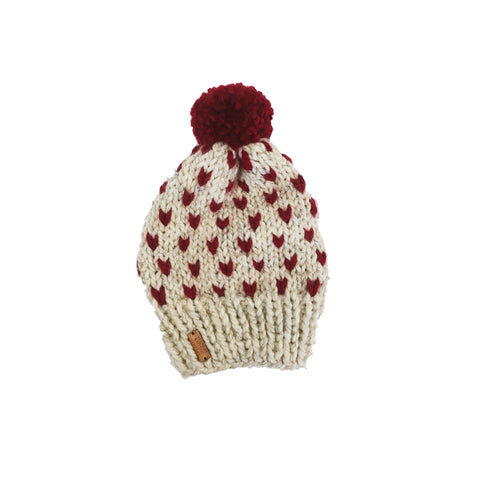 Made in Vermont Knitted Hearts Hat