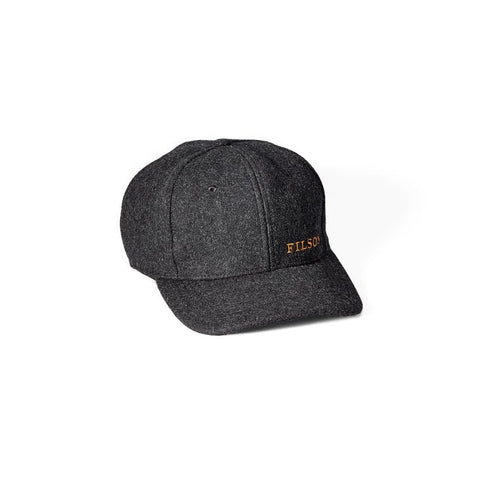 Filson Wool Logger Cap in Charcoal