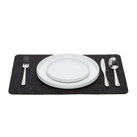 Felt Placemat in Charcoal