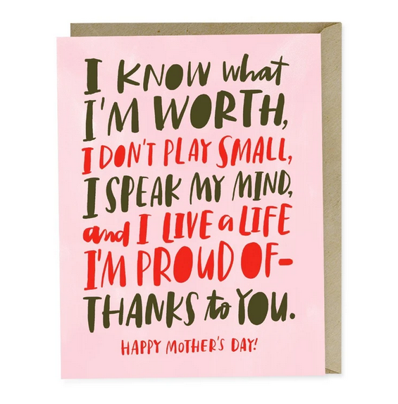 Know My Worth Mother's Day Card - EM7