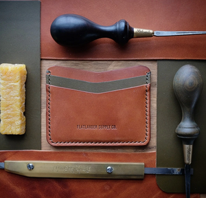 Flatlander Supply Co Leather Pommer Card Sleeve