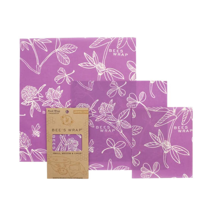 Bee's Wrap Assorted 3 Pack - Clover Purple