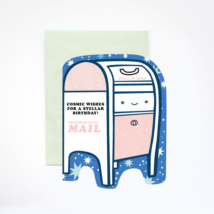 Cosmic Bday Mailbox Card - IL5