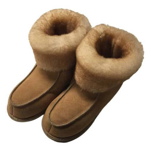 High Top Women's Sheepskin Shearling Slippers