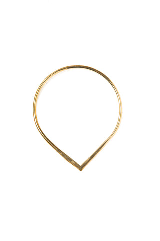 "Petal Single Brass Bangle 8"" Width"