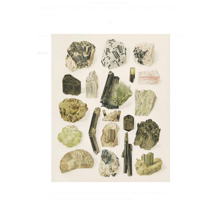 Vintage Gem & Crystal Rock Print - 16 x 20