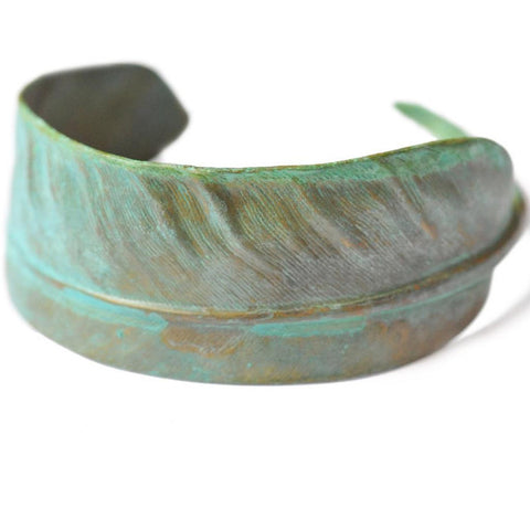 Verdigris Feather Cuff