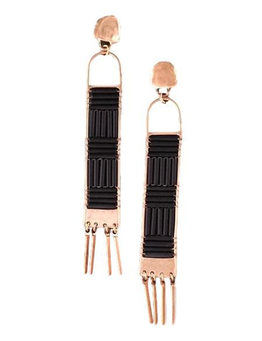 Minaret Earrings Black