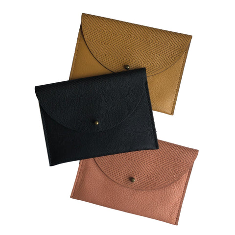 Leather Laser Cut Pouch 4 Wallet