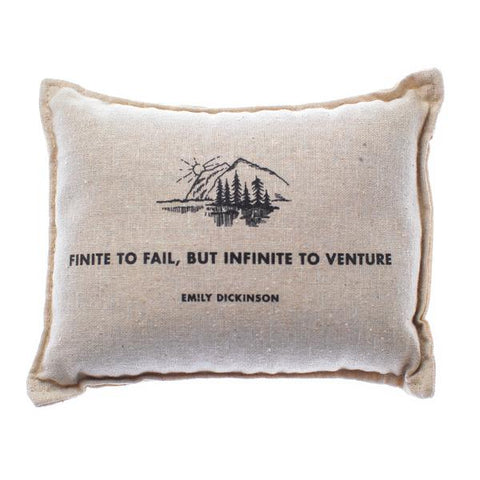 """Finite to Fail"" Emily Dickenson Balsam Pillow"