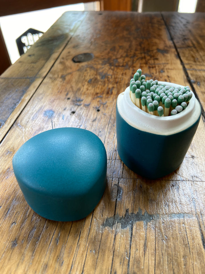 Ceramic Matchbox - Mariner Teal