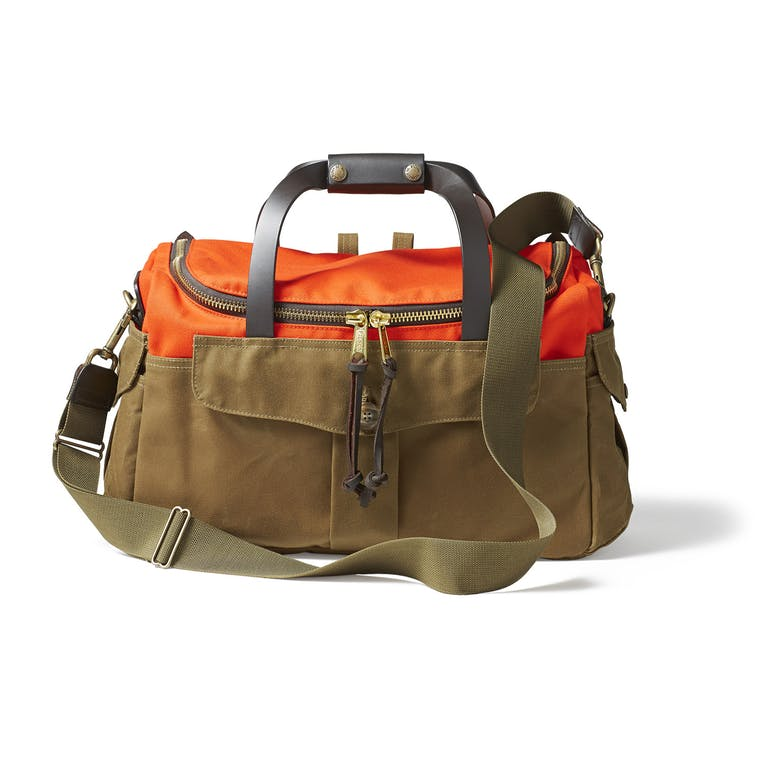 Filson Heritage Sportsman Bag in Orange/Dark Tan