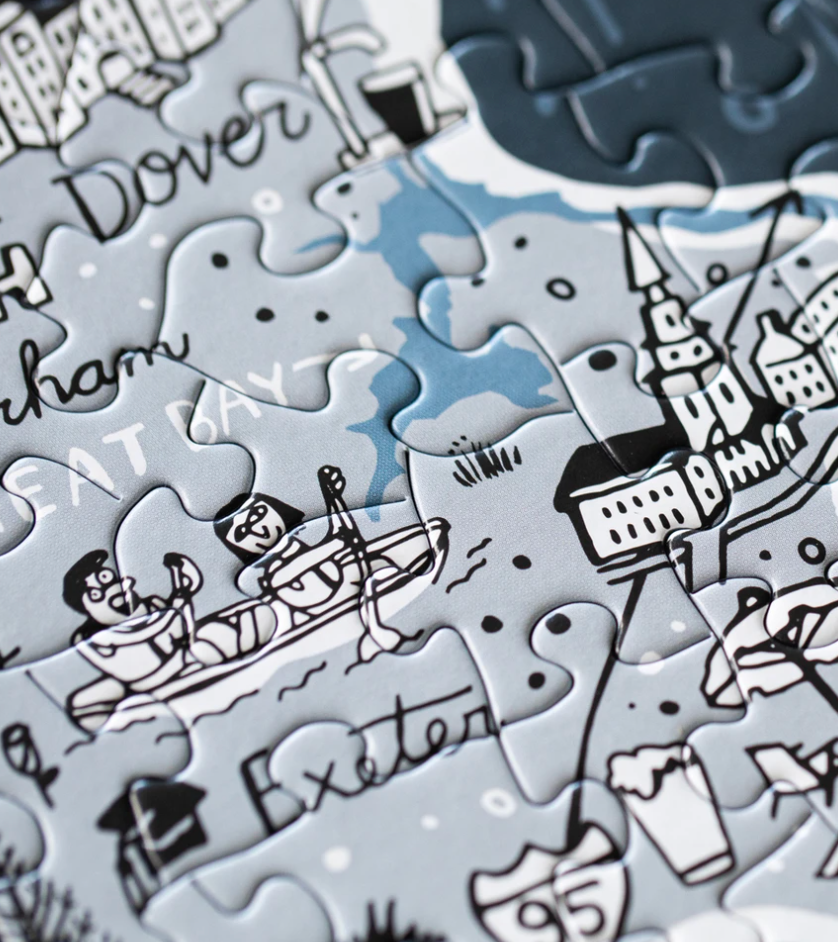 Illustrated New Hampshire Map Puzzle
